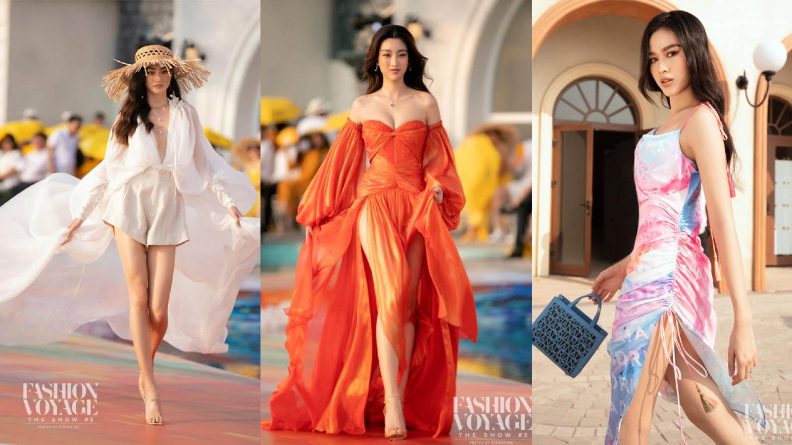 Hoa hậu Đỗ Mỹ Linh, Lương Thuỳ Linh, Đỗ Thị Hà khoe chân dài miên man bên bờ biển