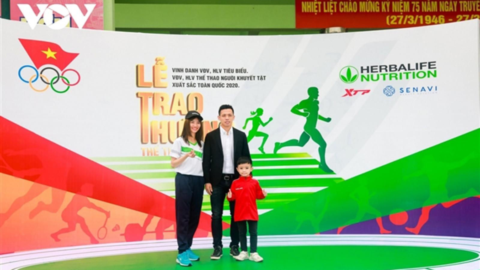 Van Quyet honoured on Vietnam Sports Day