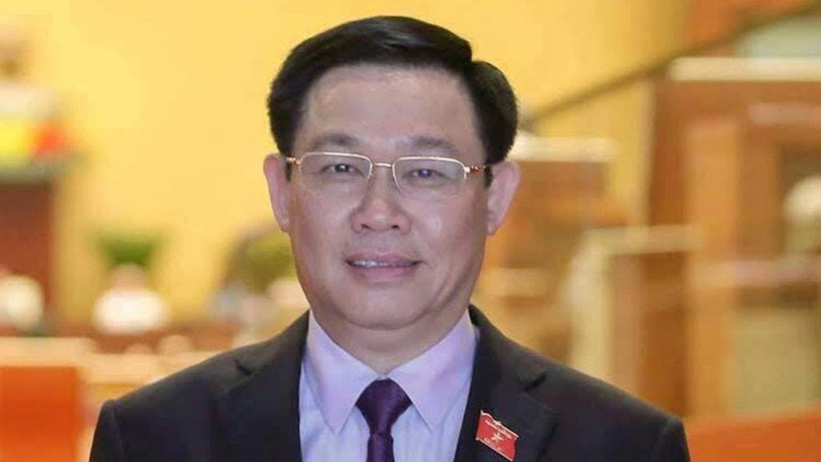 Quá trình công tác của Chủ tịch Quốc hội Vương Đình Huệ