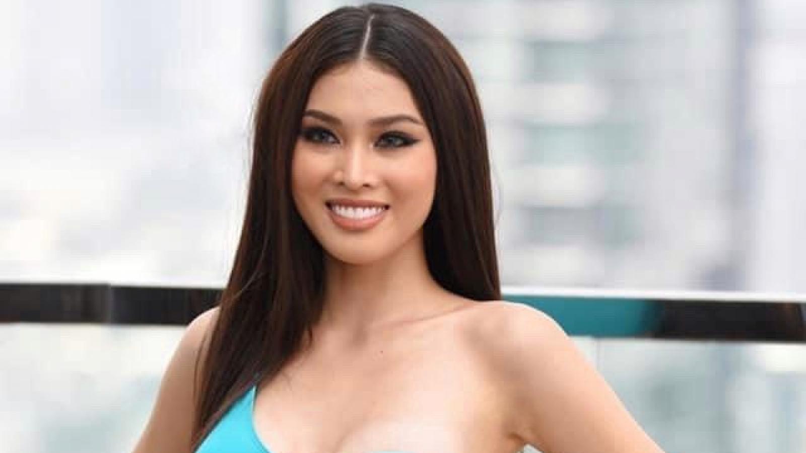 Á hậu Ngọc Thảo trình diễn bikini đầy nóng bỏng tại Miss Grand International 2020