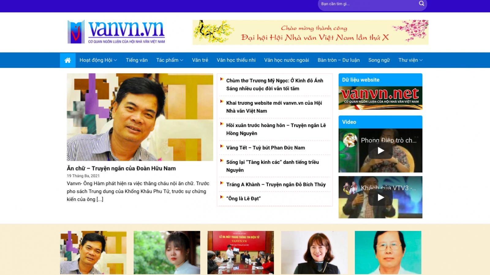 Hội Nhà văn Việt Nam ra mắt trang thông tin điện tử, thúc đẩy quảng bá văn học Việt