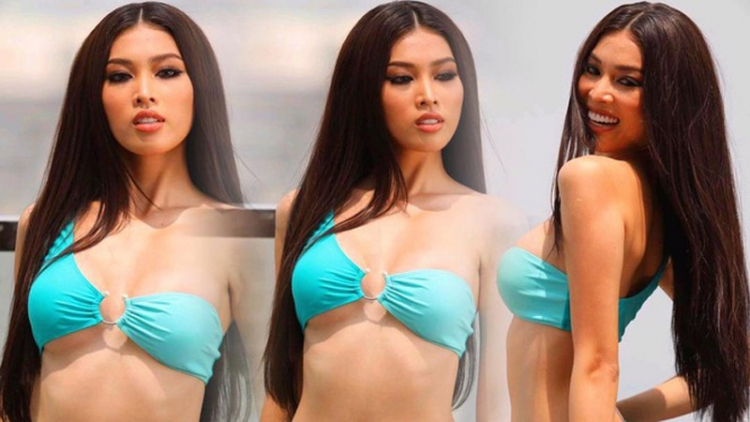 """Ngoc Thao into top 20 of """"Best in swimsuit"""" segment at Miss Grand International"""