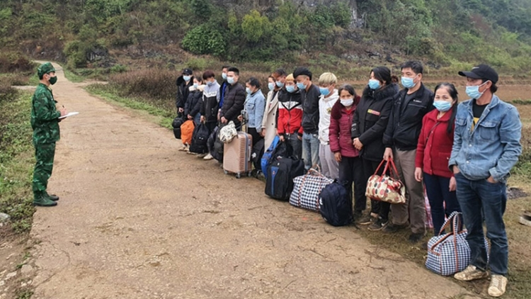 Border guards detect 51 illegal immigrants trying to enter Vietnam