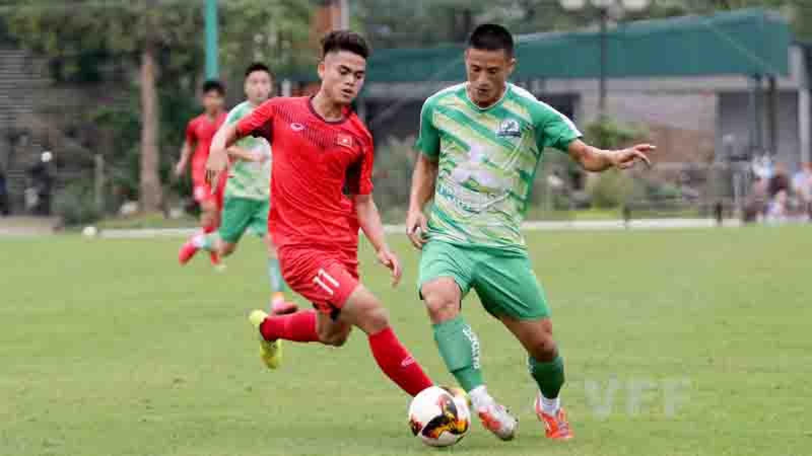 Vietnam U18 squad train hard ahead of upcoming international tournaments