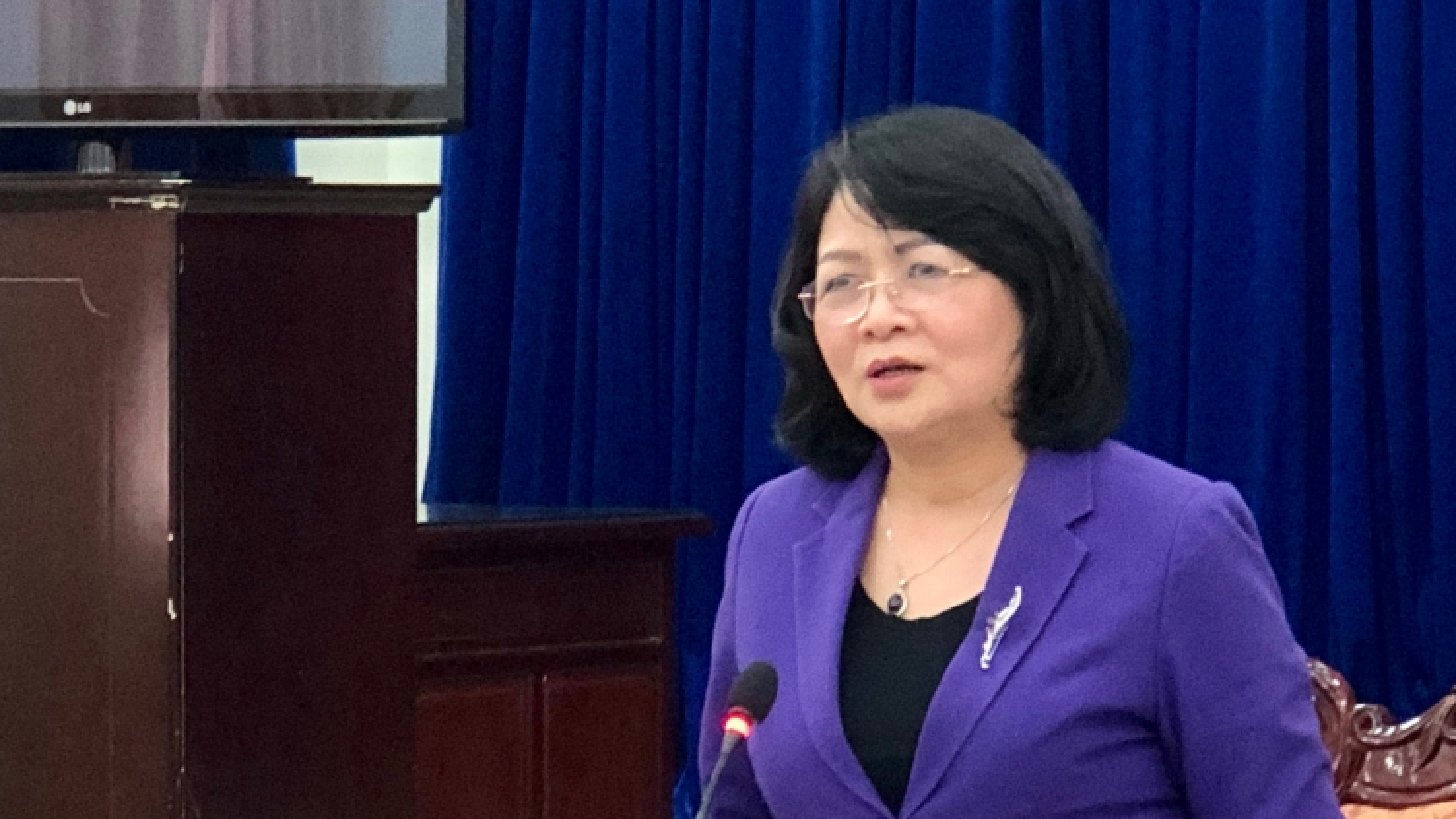 Phó Chủ tịch nước Đặng Thị Ngọc Thịnh kiểm tra công tác chuẩn bị bầu cử tại tỉnh Bạc Liêu