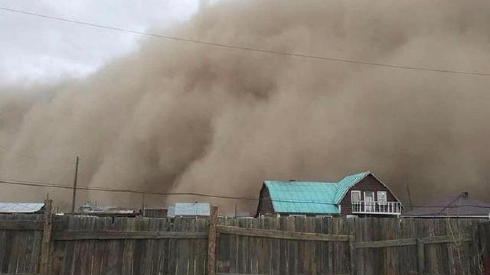 Bão cát và bão tuyết làm 10 người chết ở Mông Cổ, ảnh hưởng 17 tỉnh Trung Quốc