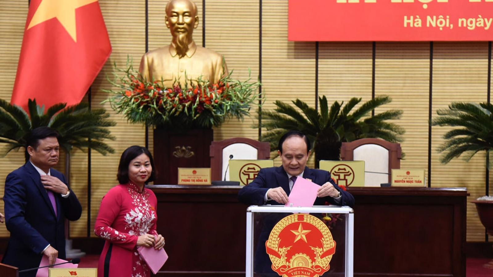 Hà Nội bầu bổ sung 7 Ủy viên UBND thành phố khóa XV