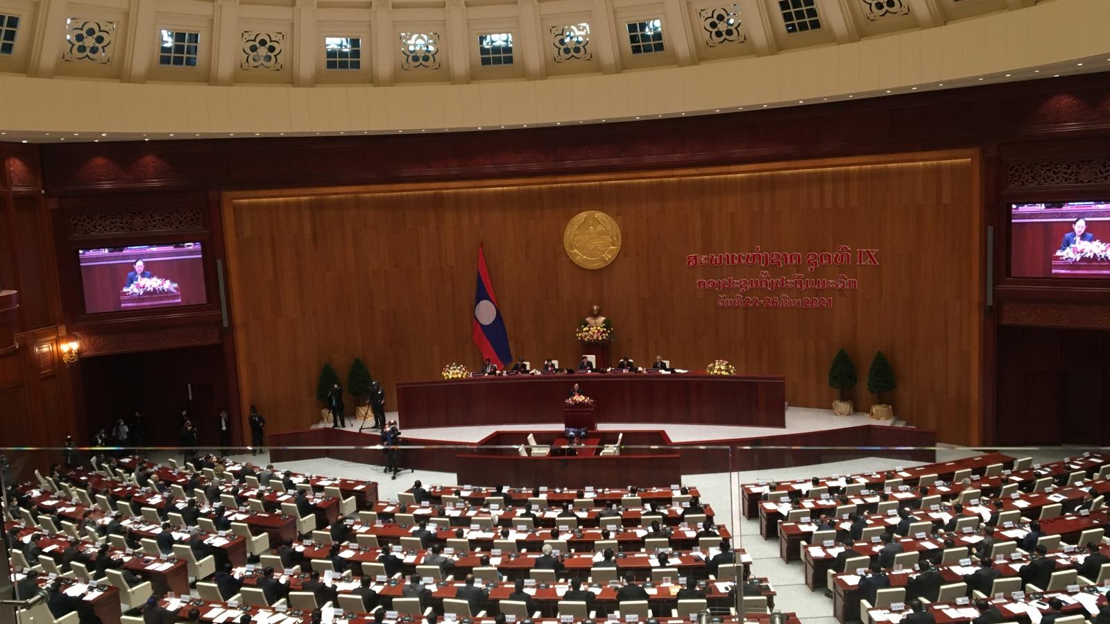 Bế mạc kỳ họp thứ nhất Quốc hội Lào khóa 9