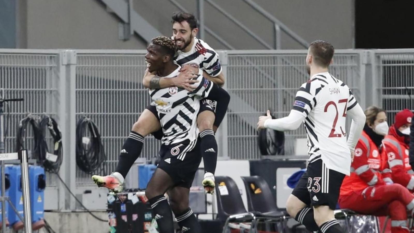 """AC Milan 0-1 MU: """"Người hùng"""" Pogba đưa Quỷ đỏ vào tứ kết Europa League"""