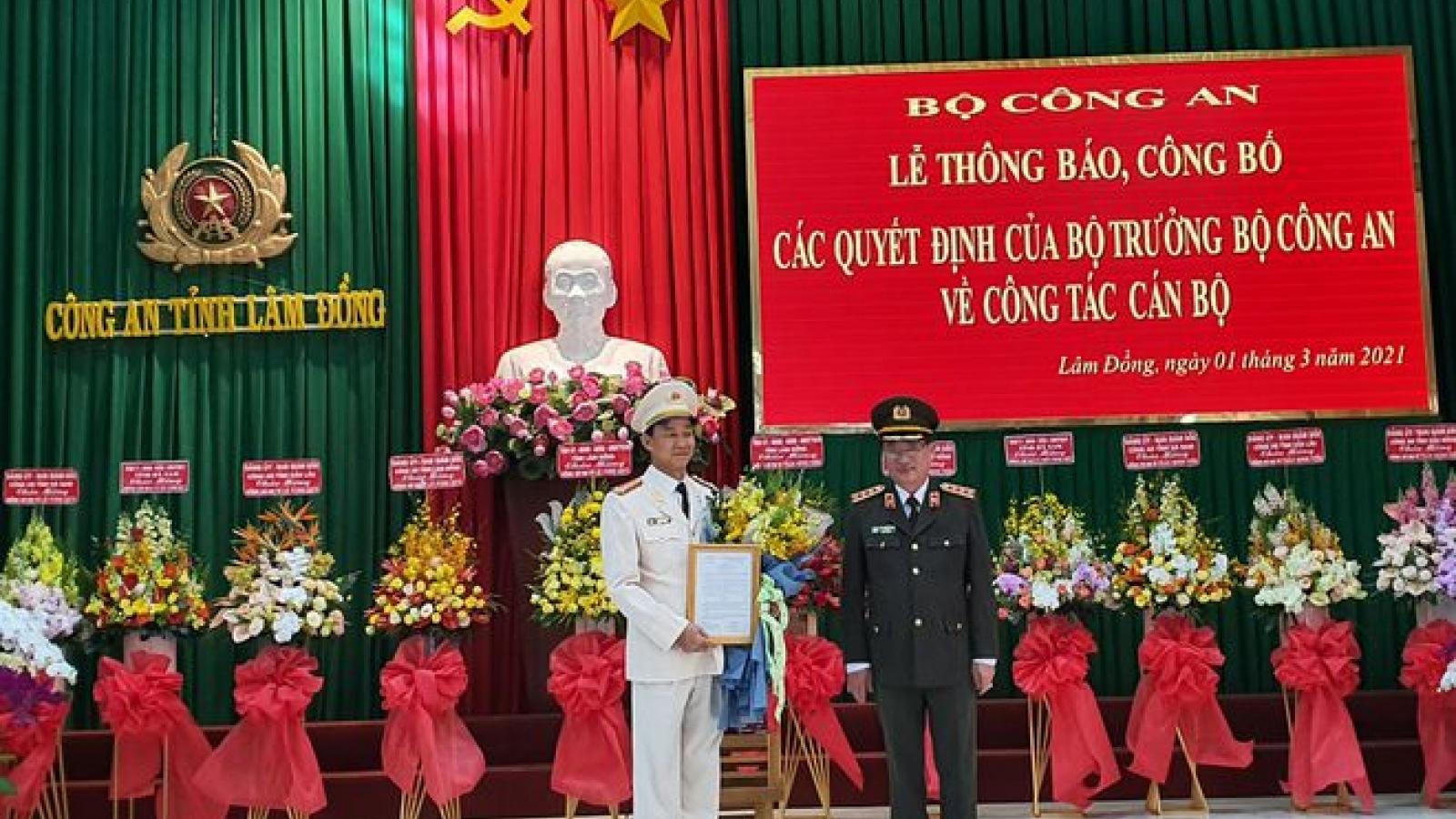 Bộ trưởng Công an điều động, bổ nhiệm lãnh đạo công an hai tỉnh