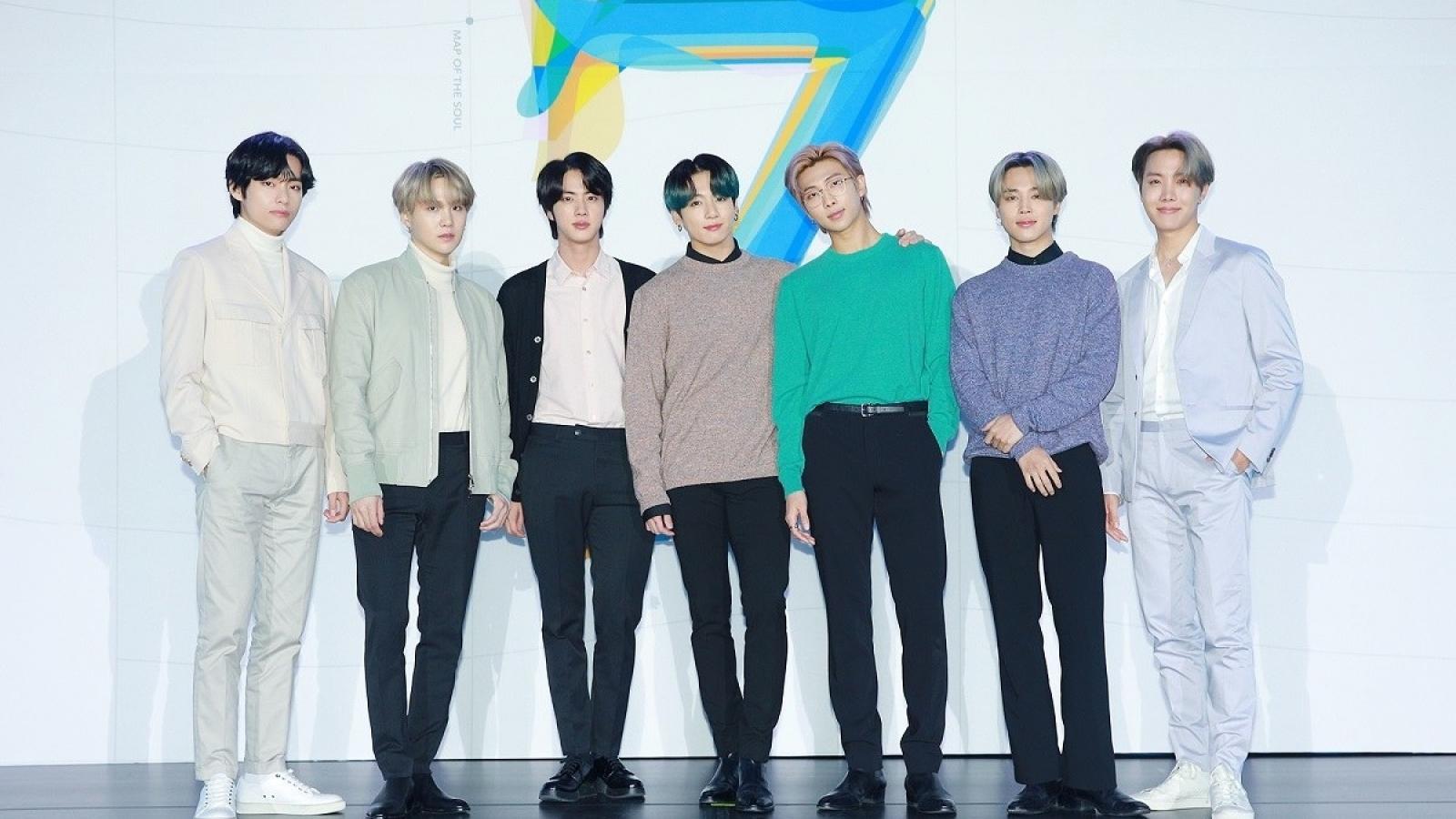"""BTS """"Map of the Soul: 7"""" dẫn đầu top 10 album bán chạy nhất thế giới năm 2020"""