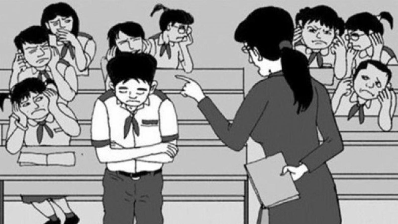 Xúc phạm danh dự học sinh, giáo viên phải xin lỗi và bị phạt tiền