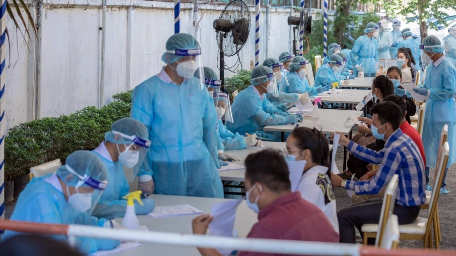 Số ca mắc Covid-19 trong cộng đồng tại Campuchia tiếp tục tăng cao