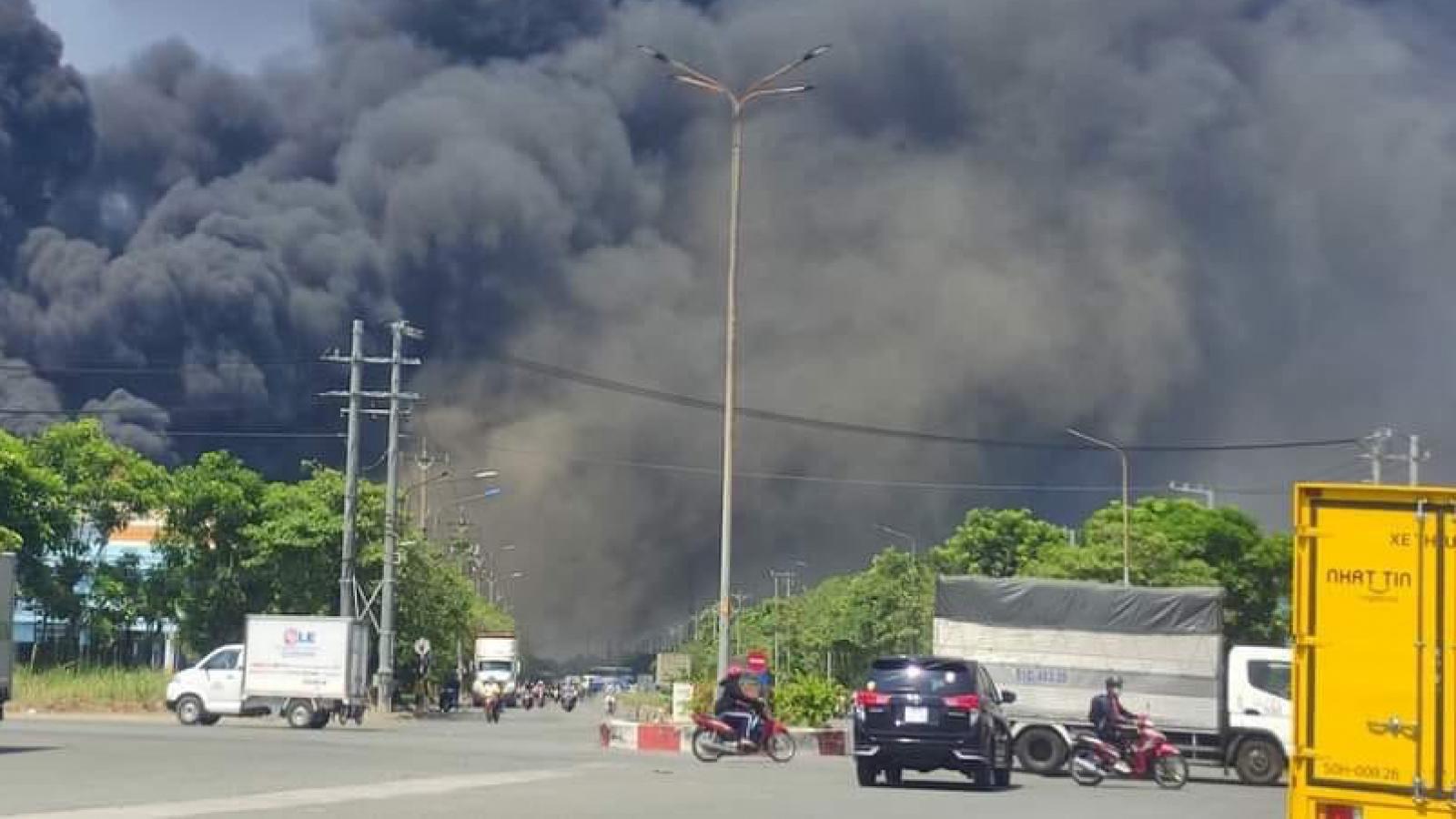 Khống chế đám cháy trong khu công nghiệp Sóng Thần 2- Bình Dương