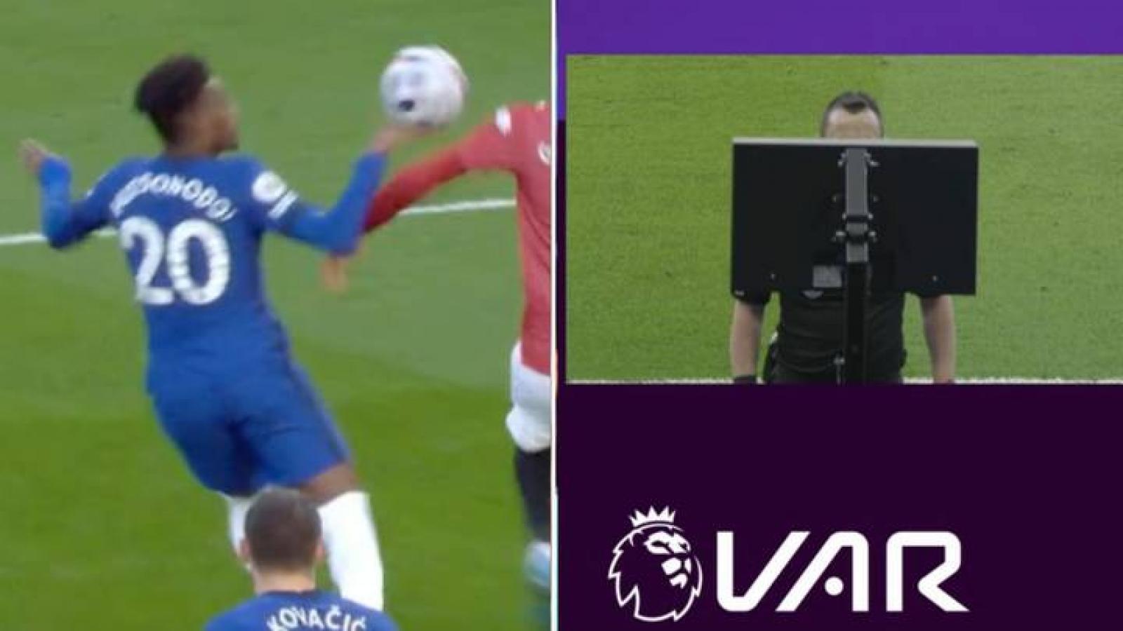 Cận cảnh: VAR gây tranh cãi, MU bị từ chối phạt đền trước Chelsea