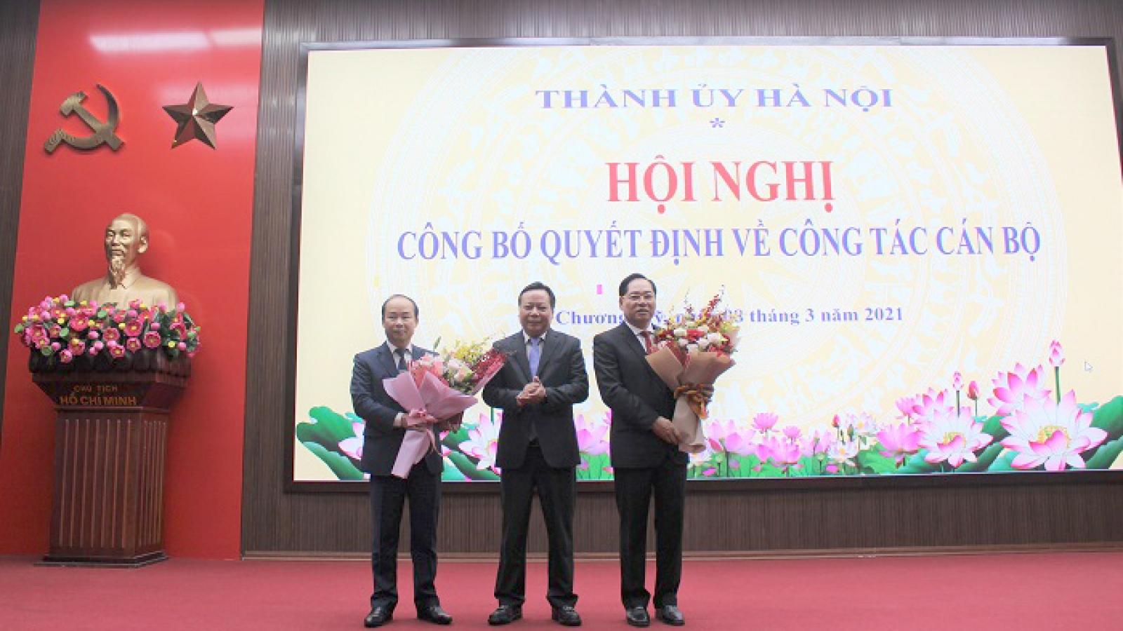 Ban Thường vụ Thành ủy Hà Nội luân chuyển nhân sự
