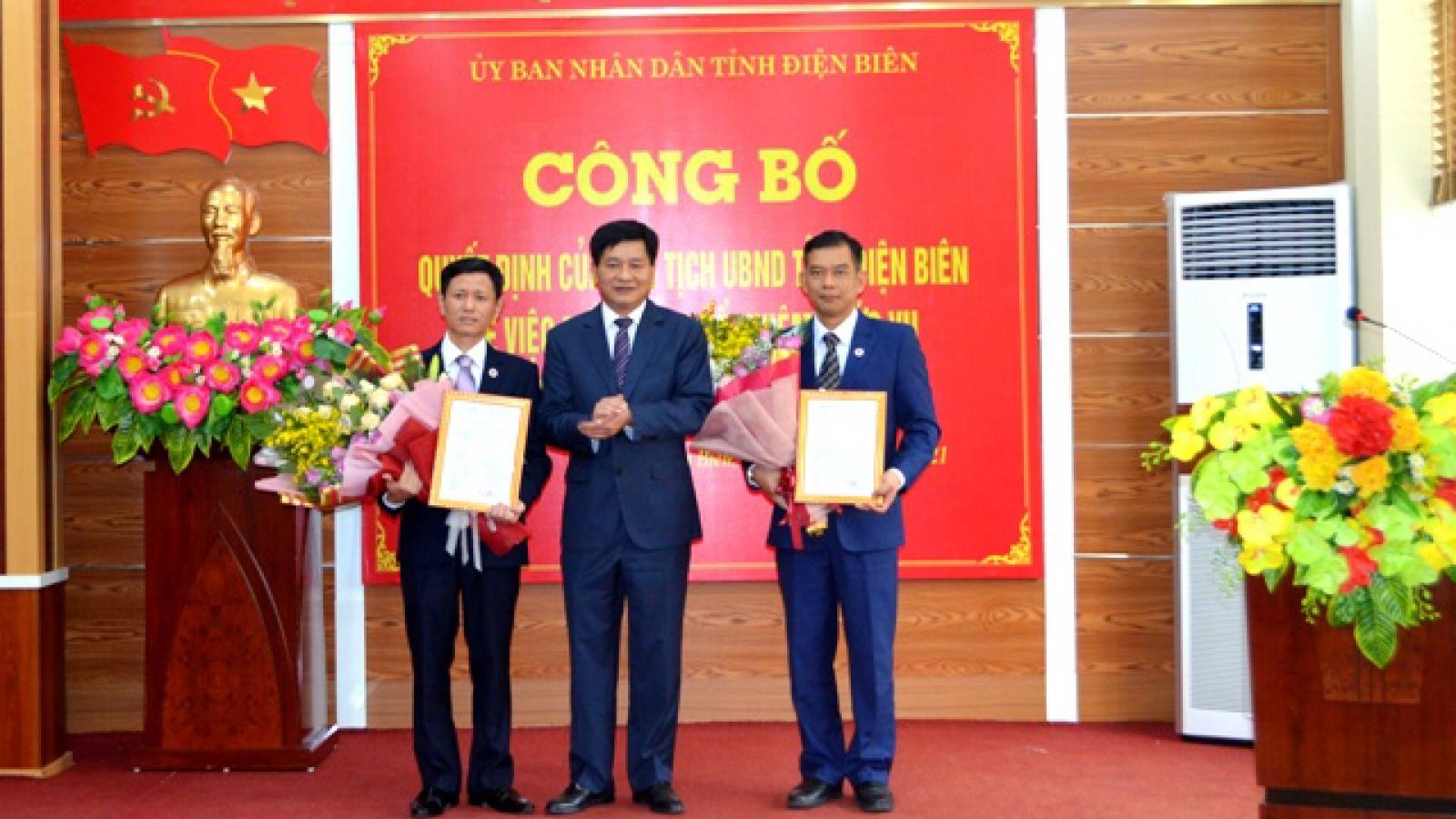 Trao quyết định bổ nhiệm nhân sự các sở, ngành của Điện Biên