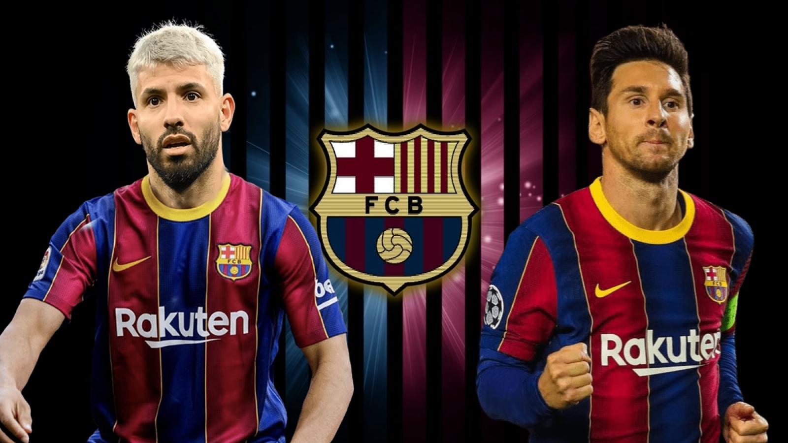 """Messi, Aguero và đội hình """"siêu tấn công"""" của Barca ở mùa giải tới"""
