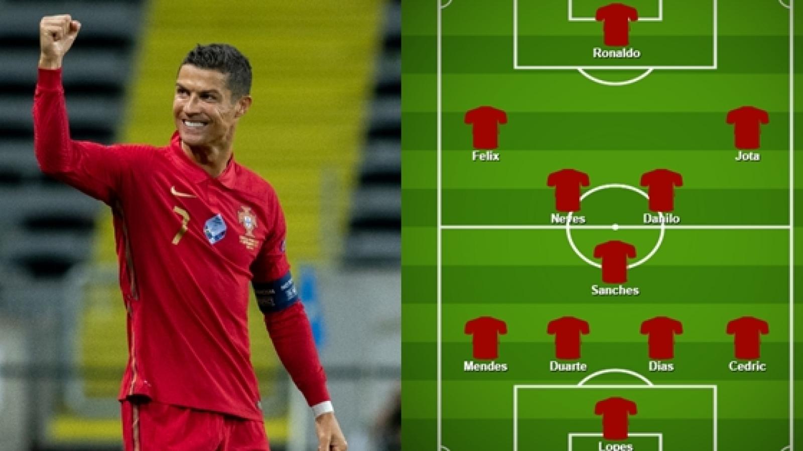 Luxembourg - Bồ Đào Nha: Ronaldo đá chính, Bruno Fernandes dự bị?