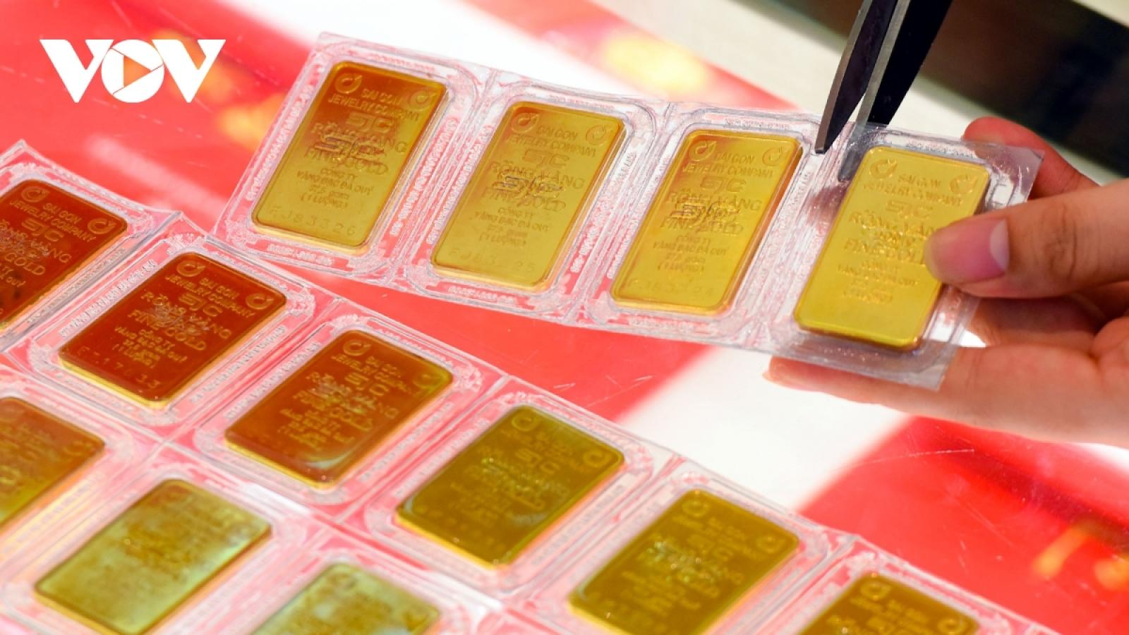 Giá vàng trong nước giảm mạnh, lùi sát 54 triệu đồng/lượng