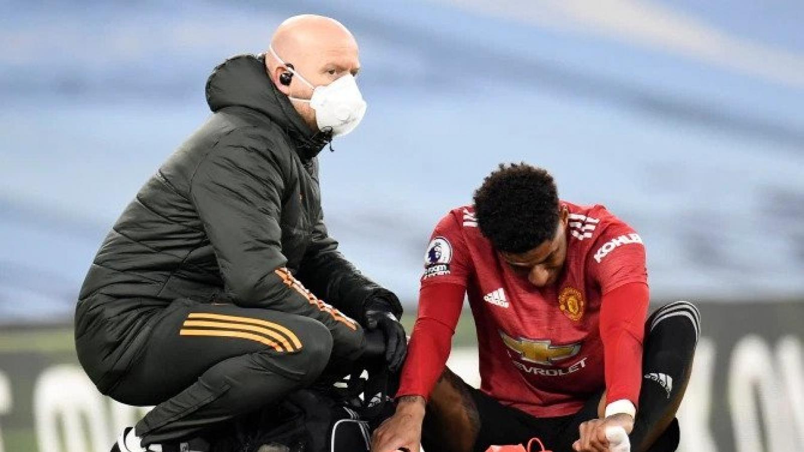 """Rashford chấn thương, có thể lỡ trận """"đại chiến"""" MU - Milan"""