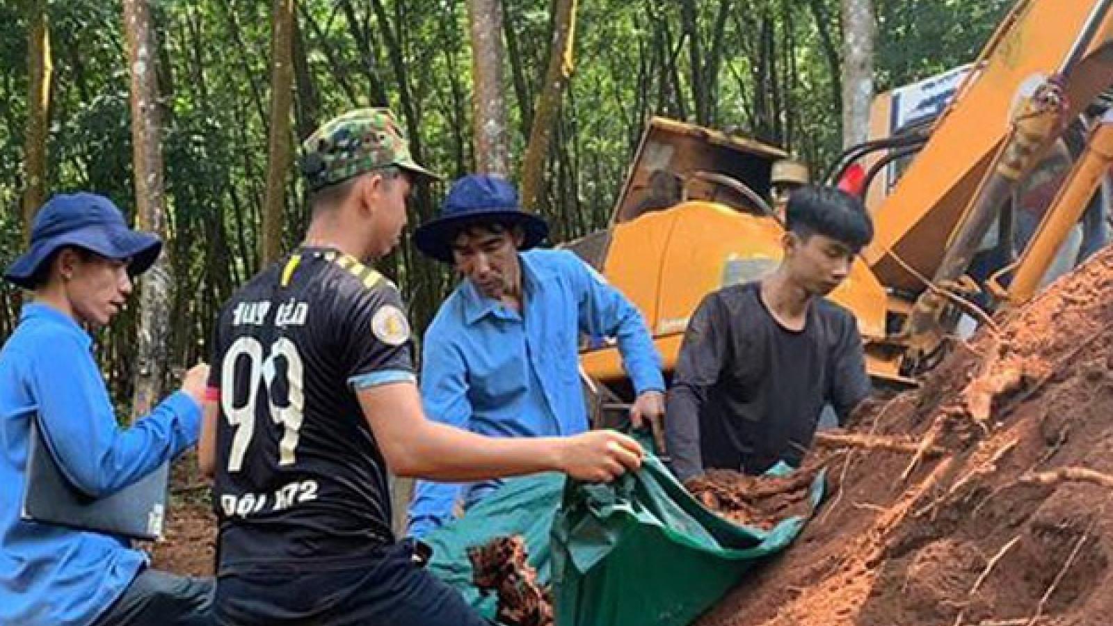 Phát hiện 3 hài cốt liệt sĩ với nhiều di vật tại Bình Phước