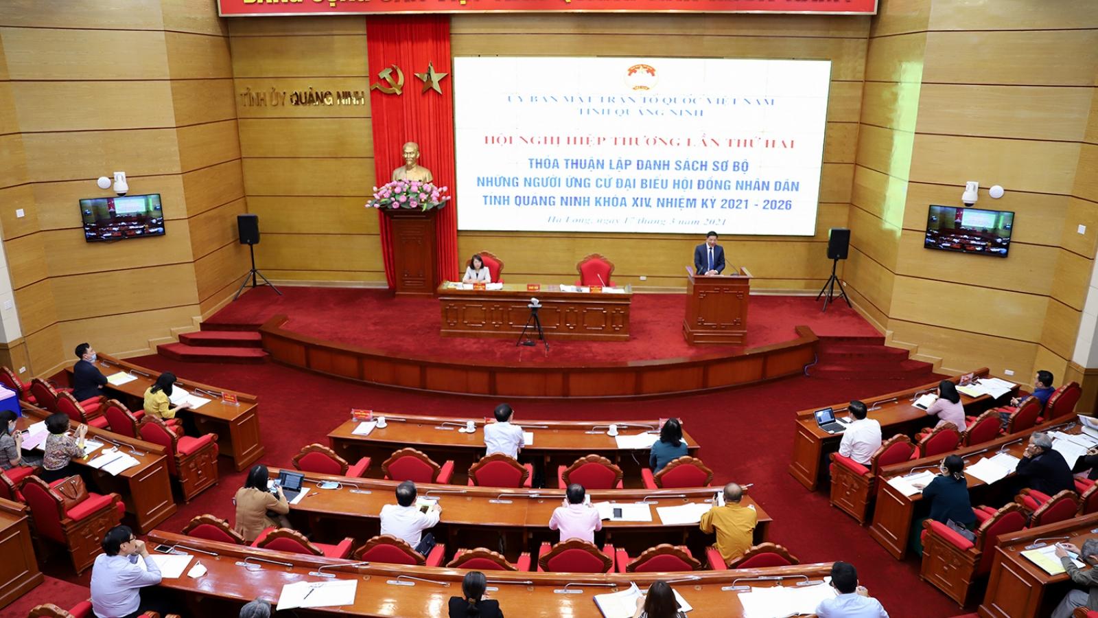 Quảng Ninh hiệp thương lần thứ hai bầu cử ĐBQH và HĐND tỉnh nhiệm kỳ 2021-2026