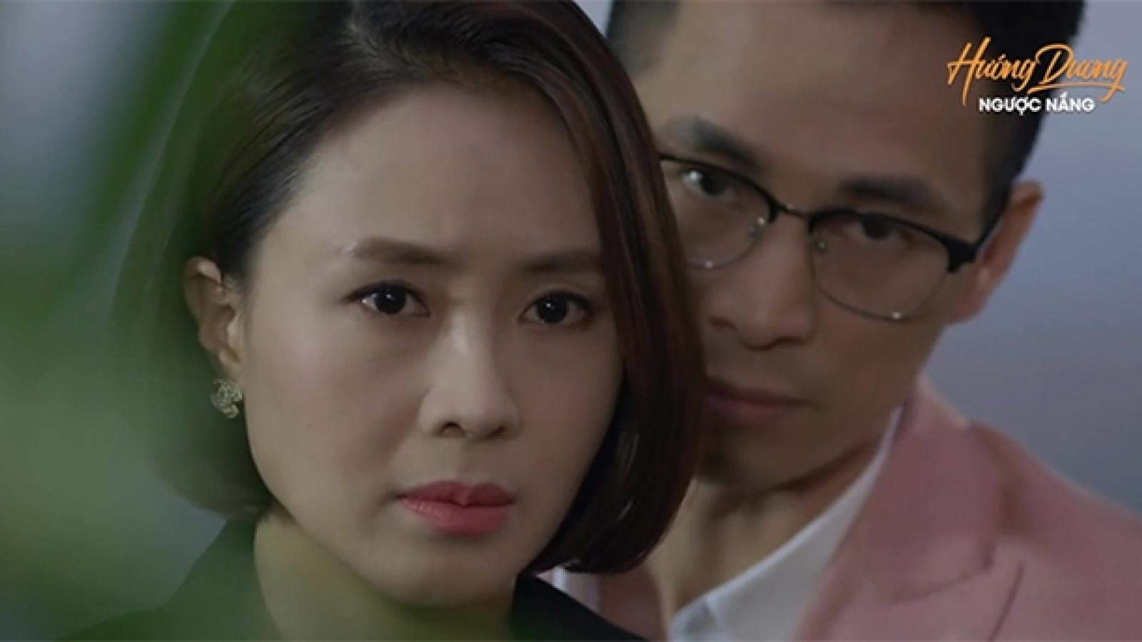 """""""Hướng dương ngược nắng"""" tập 37: Kiên cố tình hôn Minh để Châu nhìn thấy"""