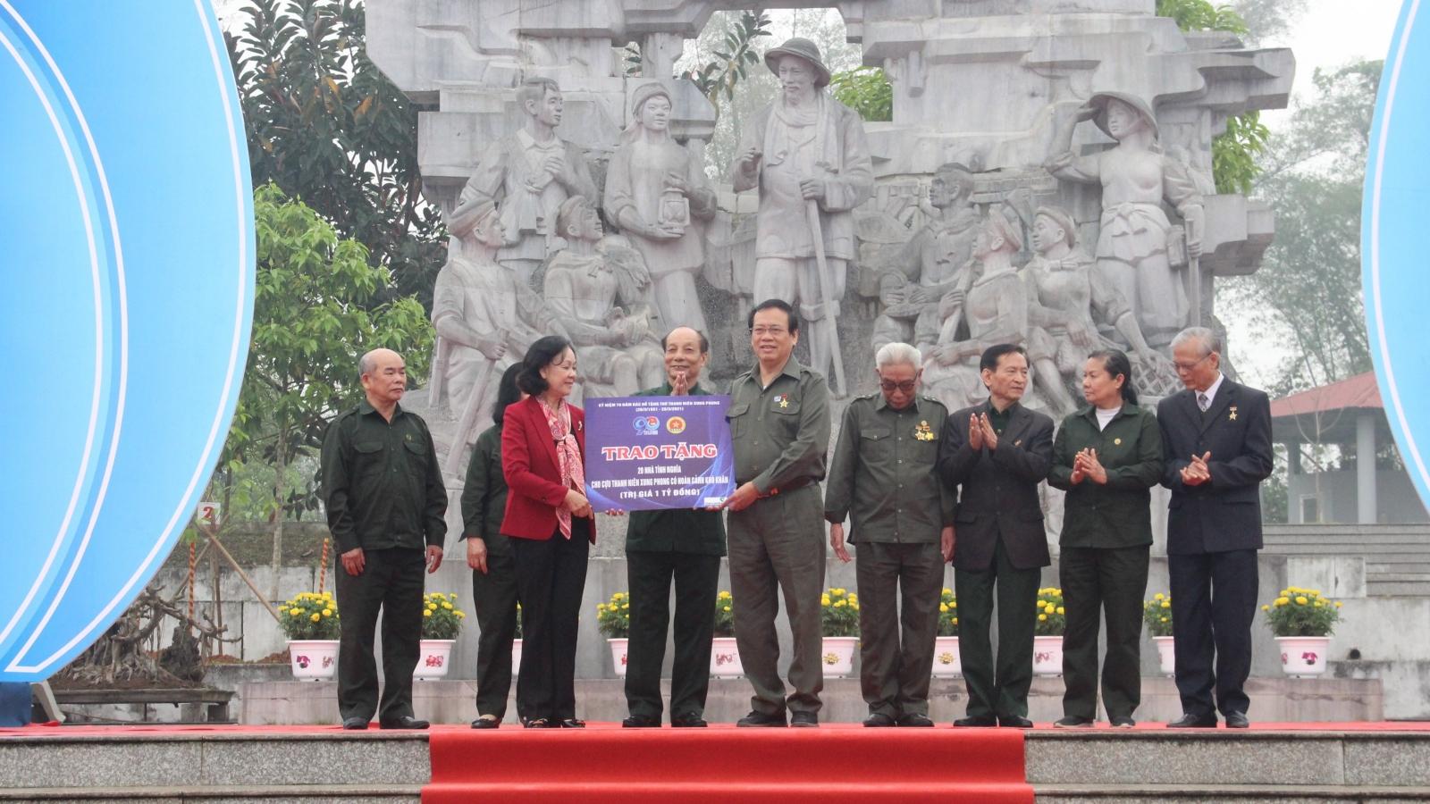 Trưởng Ban Dân vận Trung ương dự Lễ kỷ niệm 70 năm Bác Hồ tặng thơ Thanh niên Xung phong