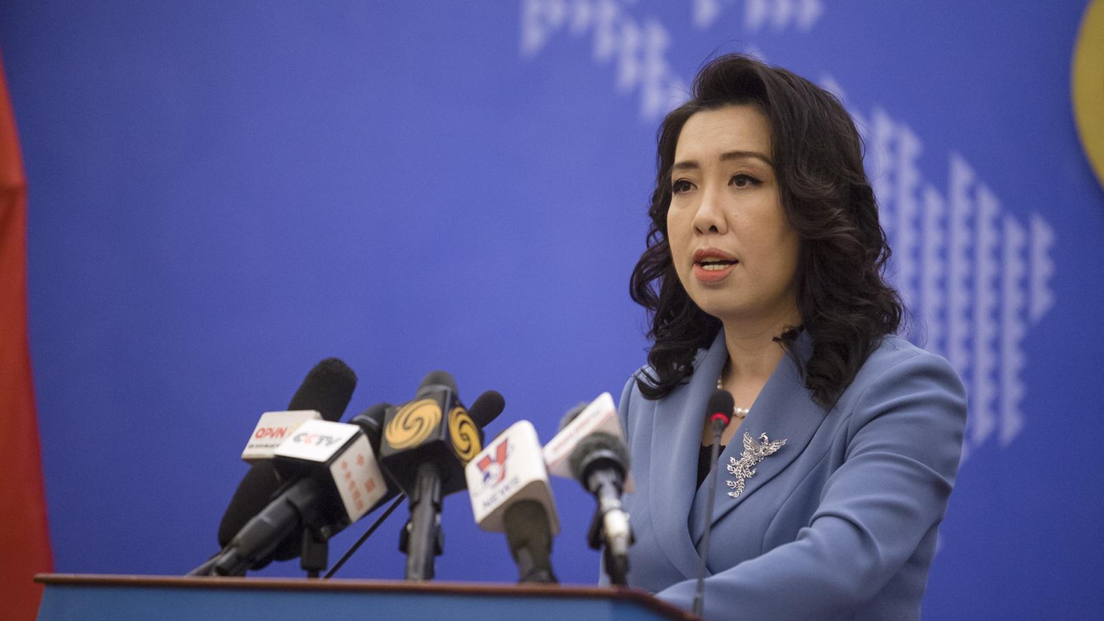 Việt Nam lên tiếng về việc Trung Quốc diễn tập trái phép ở Hoàng Sa