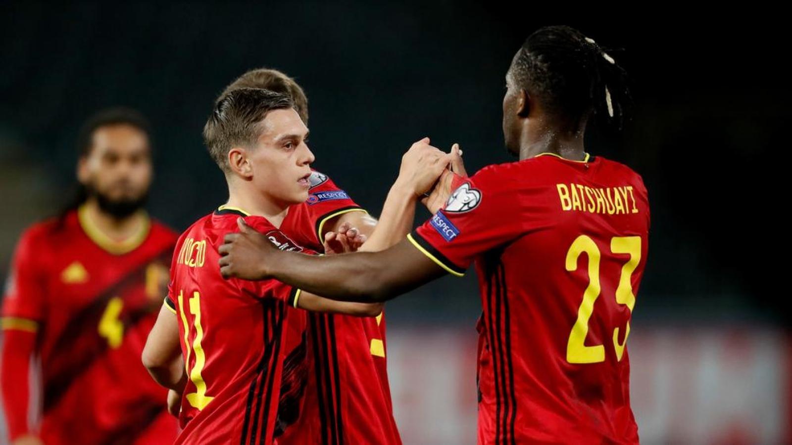 """Kết quả vòng loại World Cup 2022 khu vực châu Âu (31/3): Chiến thắng """"hủy diệt"""" của ĐT Bỉ"""