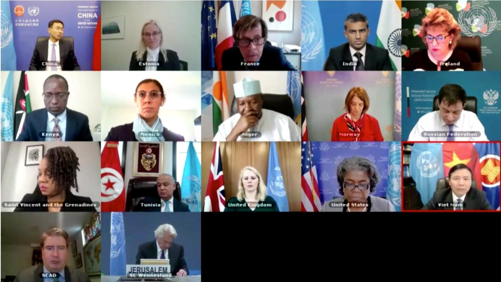 Hội đồng Bảo an Liên Hợp Quốc thảo luận về Trung Đông, bao gồm vấn đề Palestine
