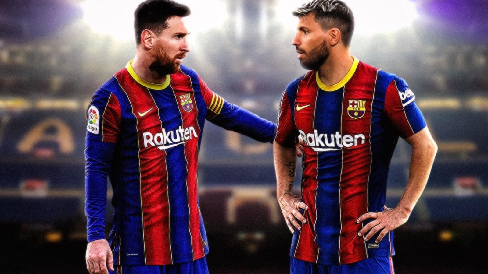 Biếm họa 24h: Messi chờ ngày đá cặp với bạn thân Aguero ở Barca