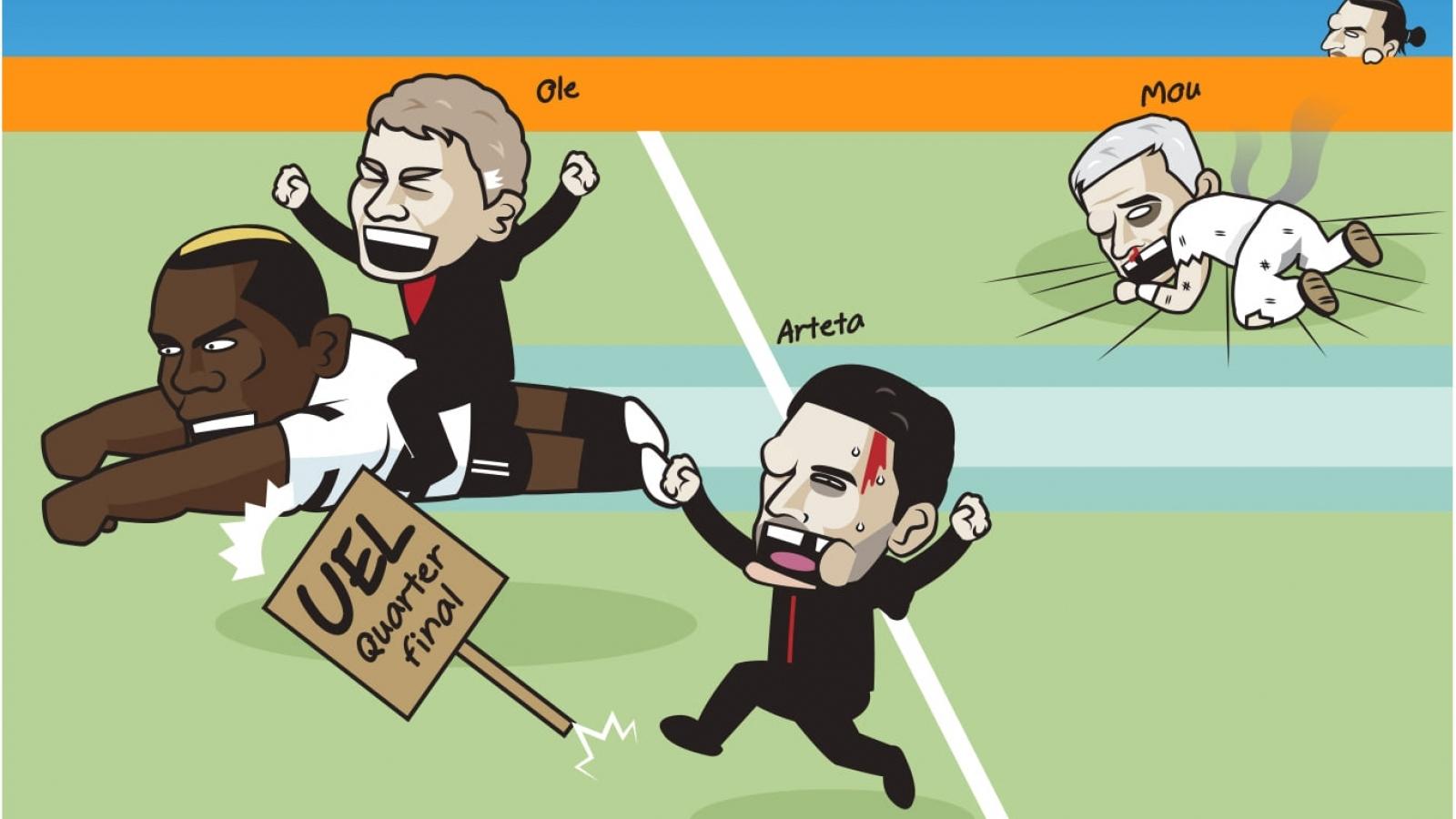"""Biếm họa 24h: Tottenham """"chết đứng"""", MU sáng cửa vô địch Europa League"""
