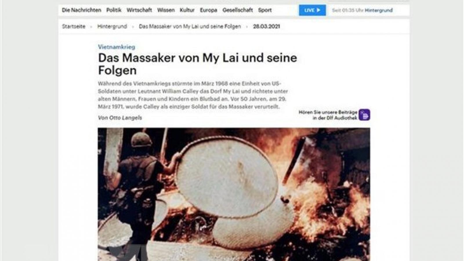 German historian: My Lai massacre a terrible war crime