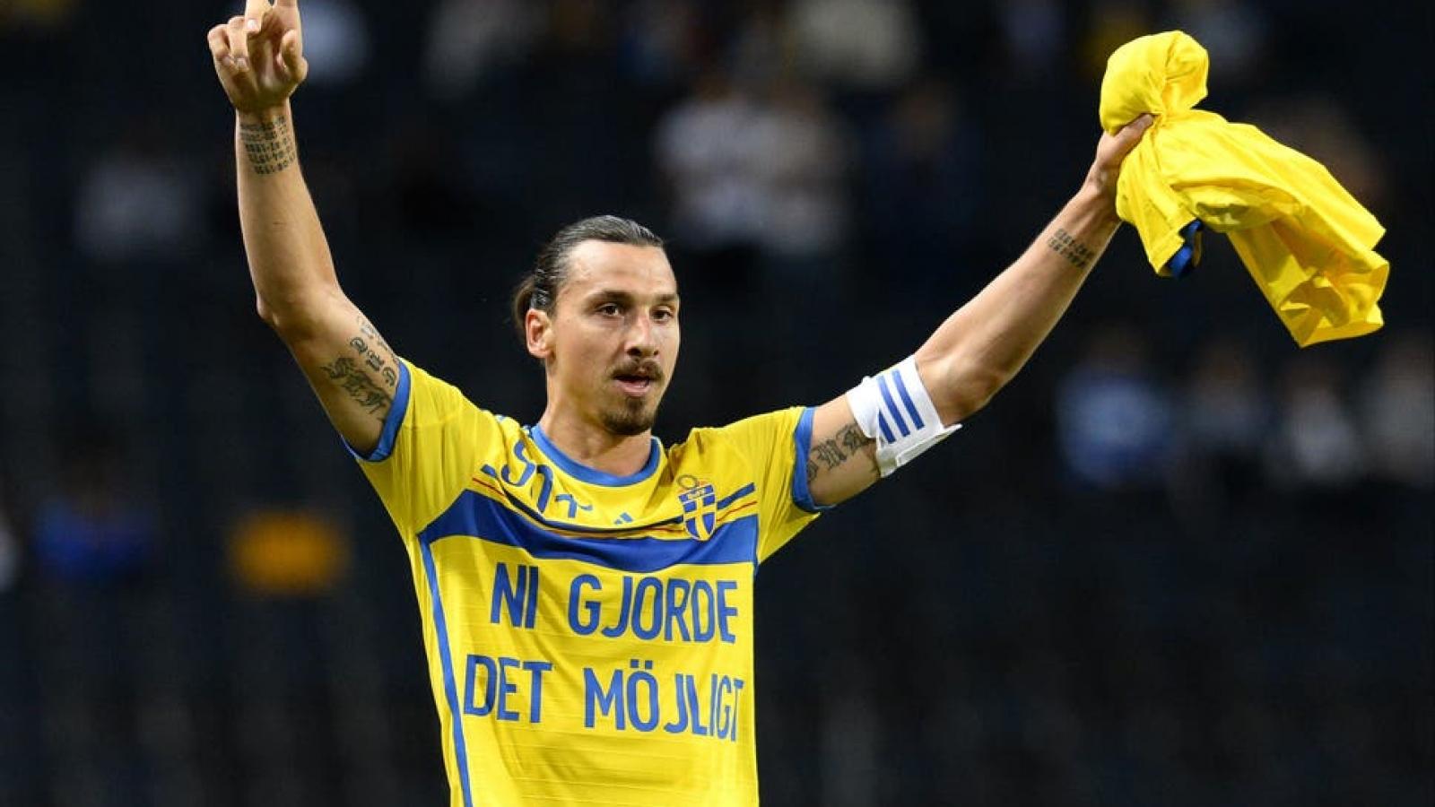 Ibrahimovic bất ngờ trở lại ĐT Thụy Điển