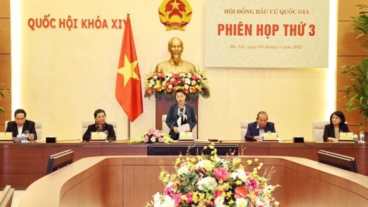 Top legislator chairs National Election Council's third meeting