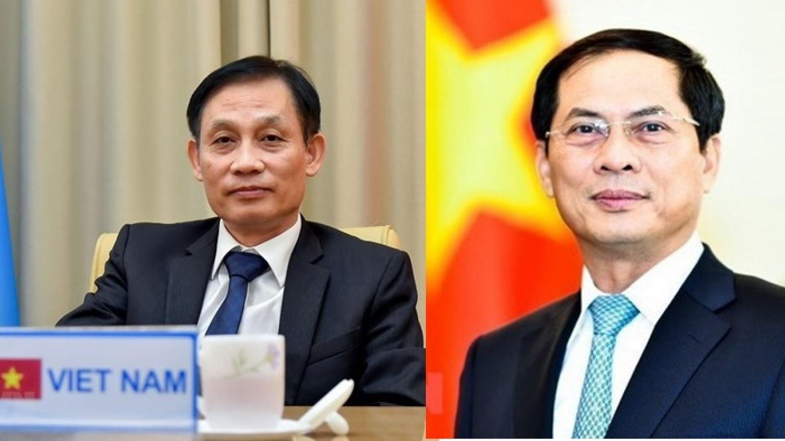 Hai Thứ trưởng Bộ Ngoại giao được giới thiệu ứng cử Đại biểu Quốc hội khóa XV