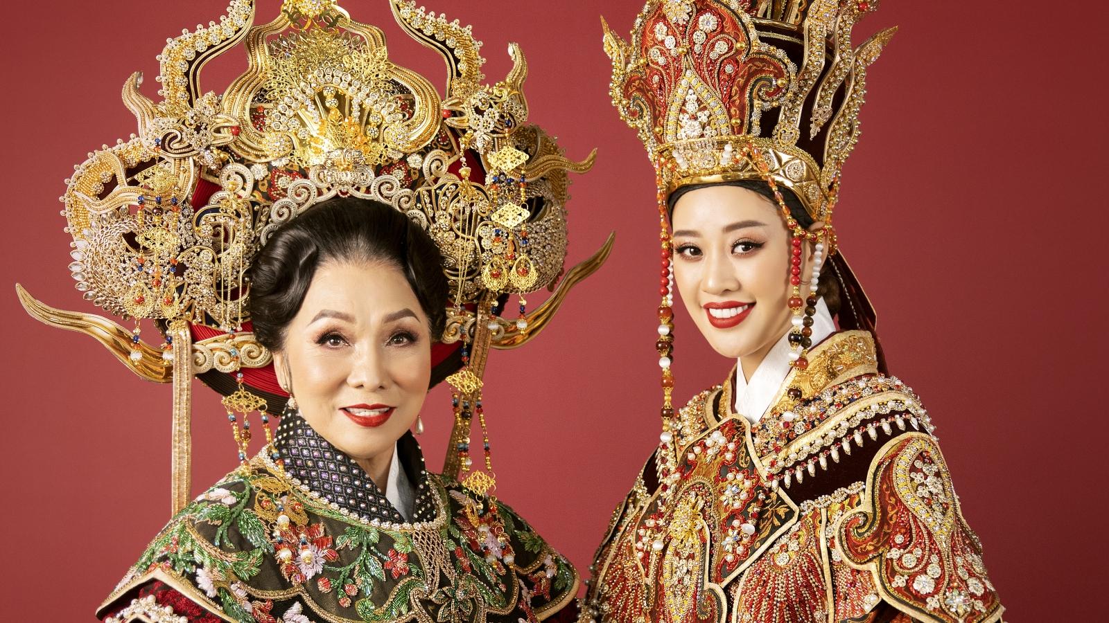 Hoa hậu Khánh Vân kết hợp cùng NSND Bạch Tuyết, hoá thân thành Thái hậu Dương Vân Nga