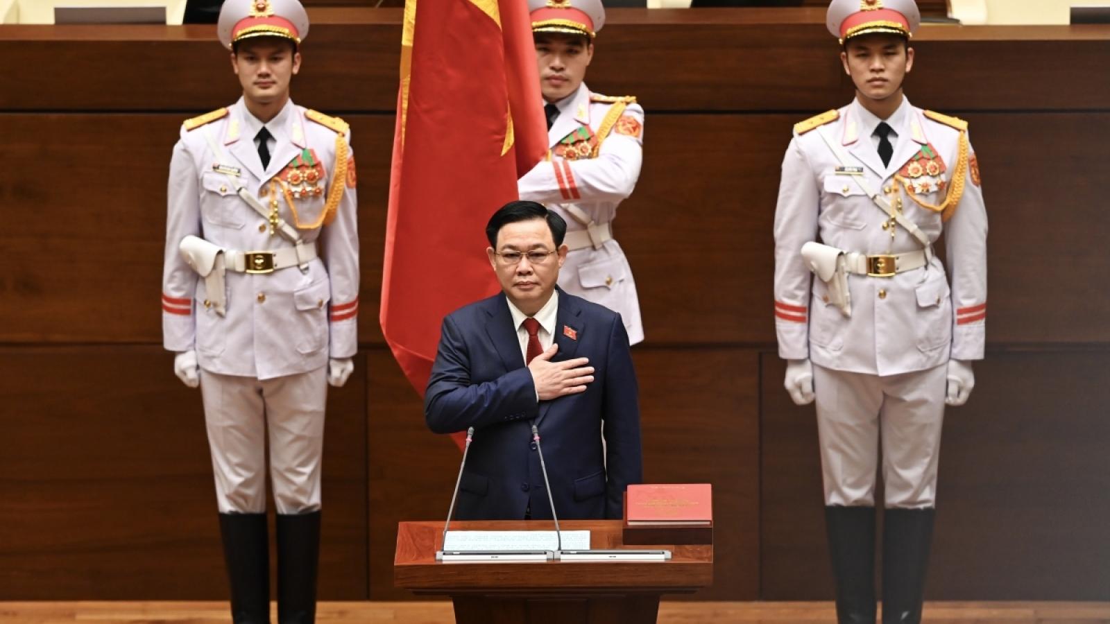 Video: Lễ tuyên thệ nhậm chức của tân Chủ tịch Quốc hội Vương Đình Huệ
