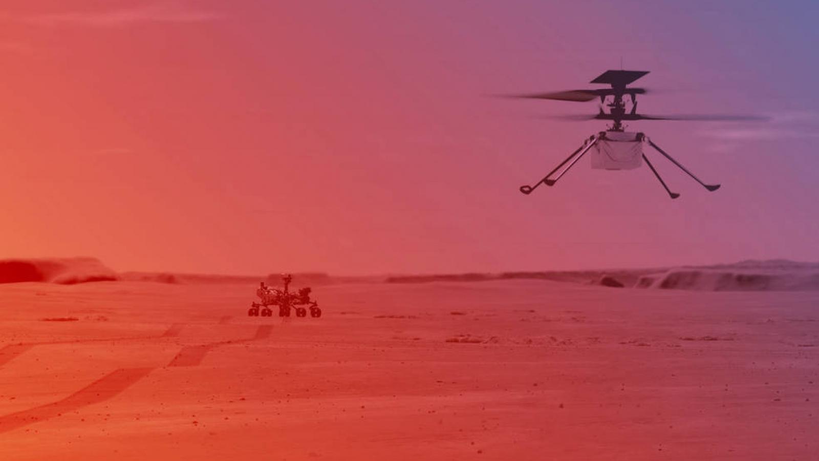 Trực thăng mini của NASA sẵn sàng thực hiện chuyến bay đầu tiên trên sao Hỏa