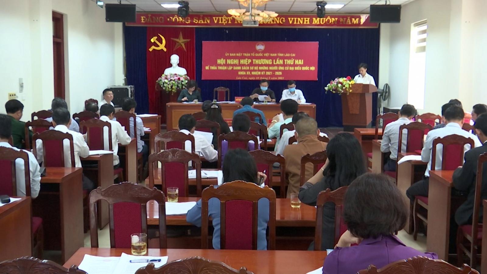 Lào Cai thông qua danh sách sơ bộ 12 người ứng cử Đại biểu Quốc hội