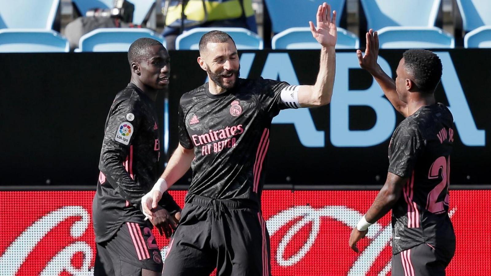 Benzema tỏa sáng, Real Madrid thắng nhọc Celta Vigo