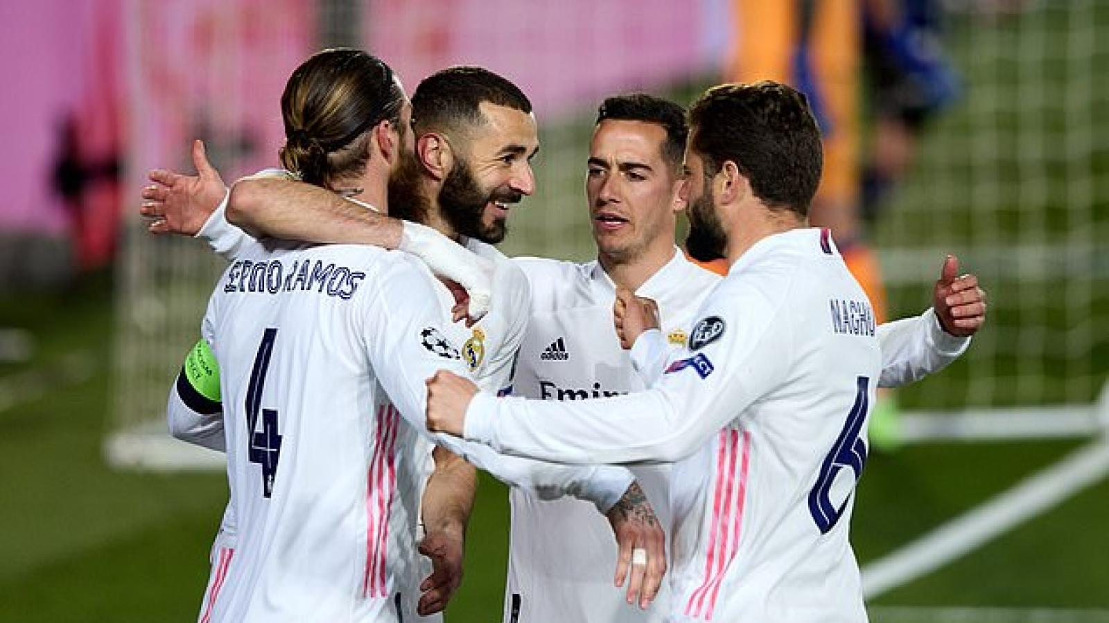 """Real Madrid """"hủy diệt"""" Atalanta để đoạt vé vào tứ kết Champions League"""