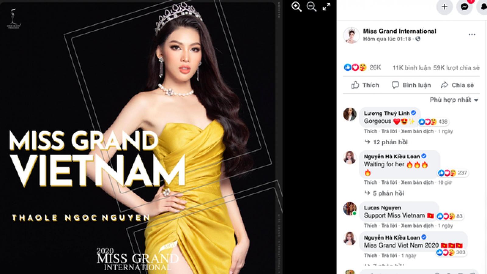 Á hậu Ngọc Thảo lọt top 10 thí sinh được yêu thích nhất Miss Grand 2021
