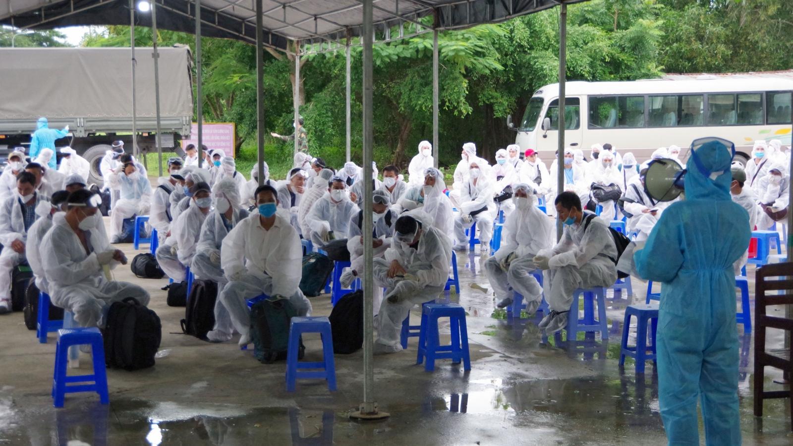 155 công dân Việt Nam từ Đài Loan (Trung Quốc) về hoàn thành cách ly y tế