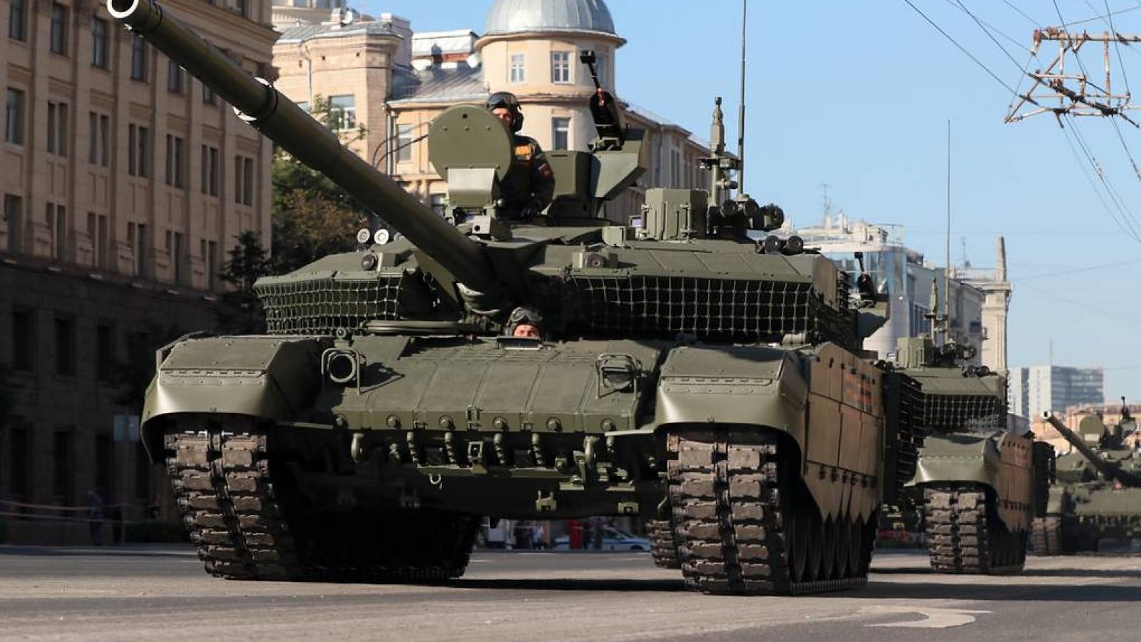 Quân đội Nga nhận xe tăng chiến đấu chủ lực T-90 phiên bản năng cấp