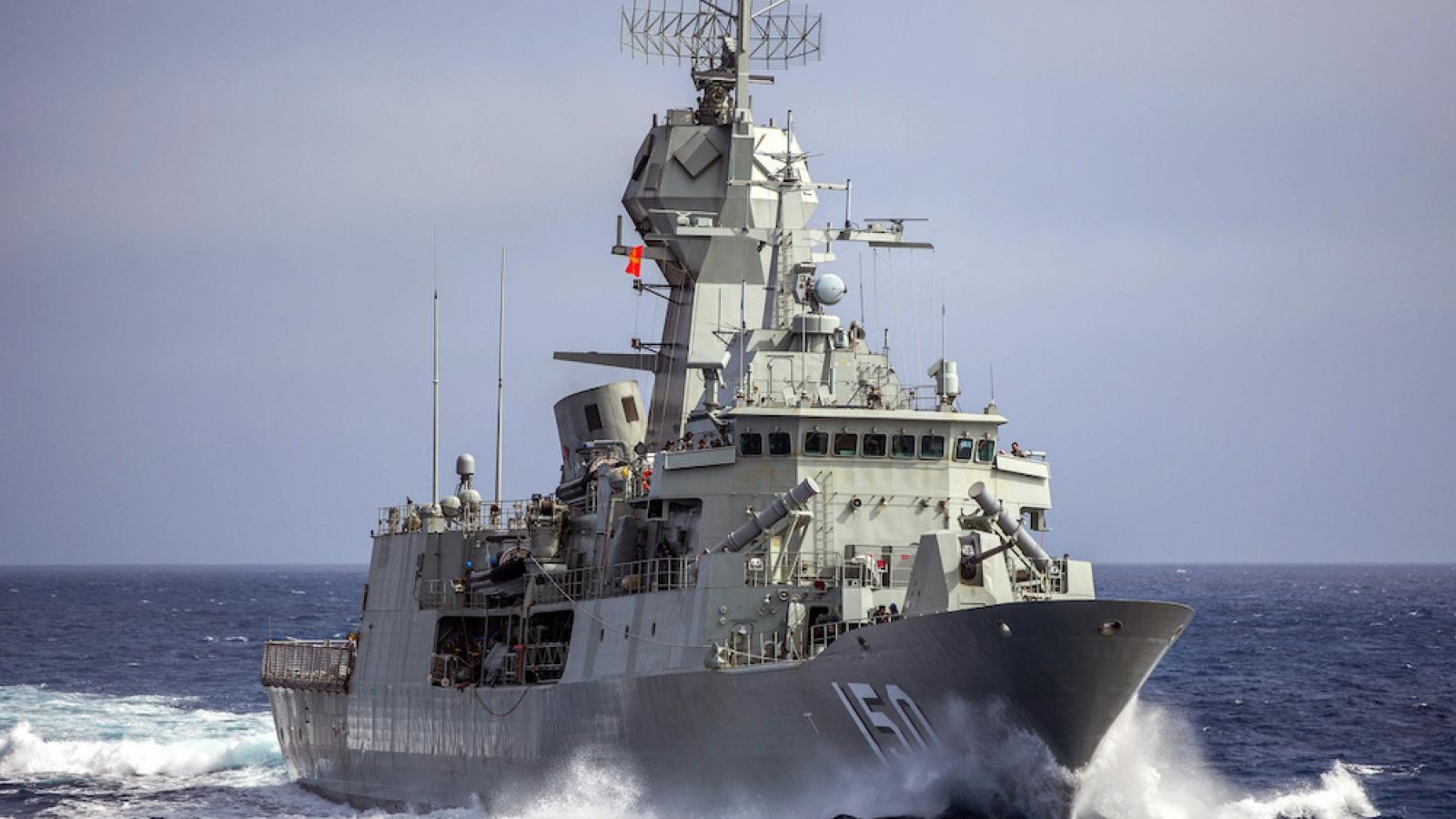 Hải quân nhóm Bộ Tứ và Pháp tập trận tại Ấn Độ Dương