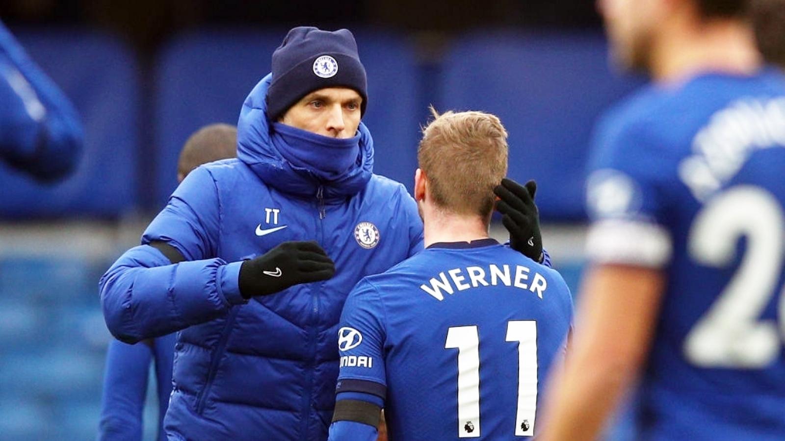 """HLV Tuchel """"nổi đóa"""" với Timo Werner trong ngày Chelsea hạ đẹp Everton"""