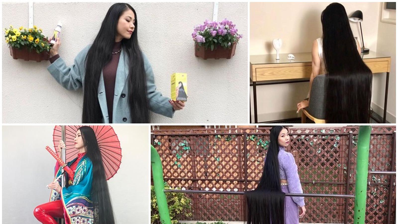 Ấn tượng với mái tóc dài thướt tha của cô gái Nhật Bản